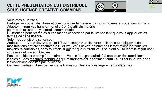 CETTE PRÉSENTATION EST DISTRIBUÉE SOUS LICENCE CREATIVE COMMONS Vous êtes autorisé à : Partager — copier, distribuer et co...
