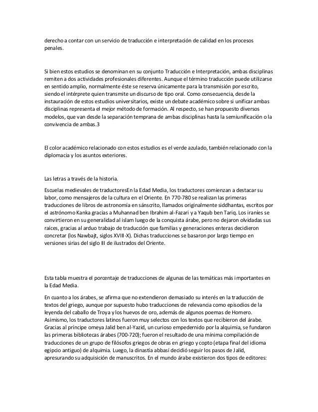 derecho a contar con un servicio de traducción e interpretación de calidad en los procesos penales. Si bien estos estudios...