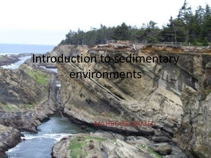Introduction to sedimentary       environments           MAHBOOB AHMED