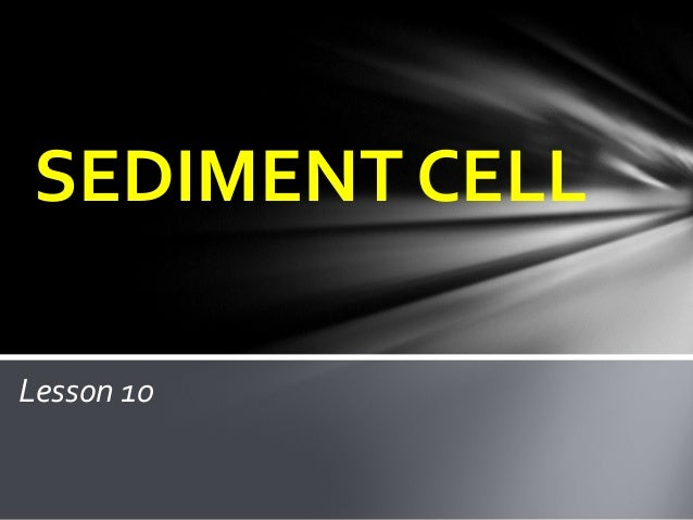 SEDIMENT CELLLesson 10