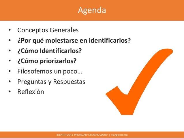 """Identificar y priorizar """"stakeholders"""" Slide 3"""