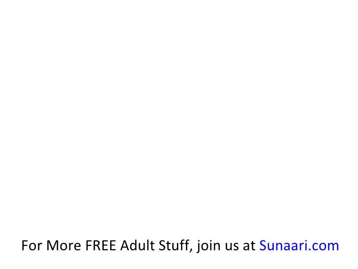 For More FREE Adult Stuff, join us at  Sunaari.com