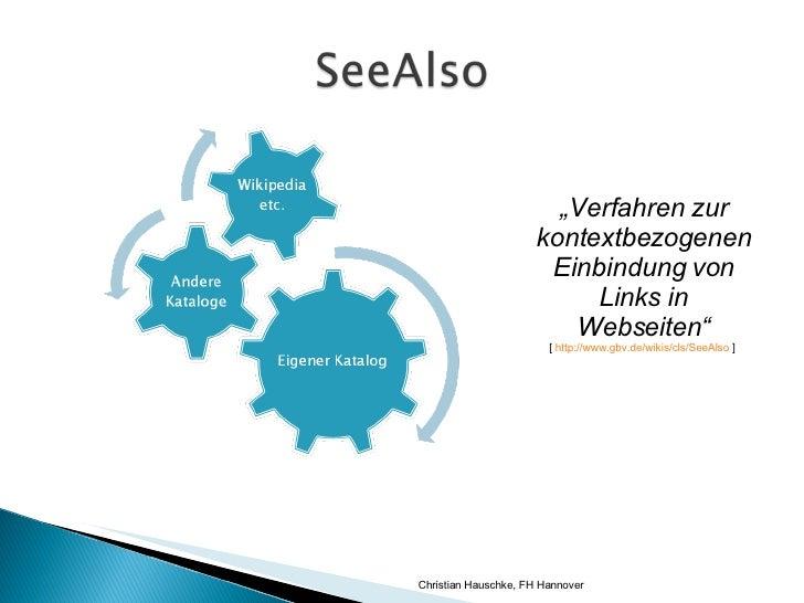 SeeAlso im OPAC Slide 3