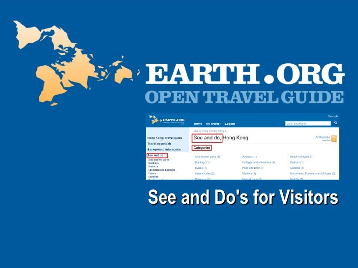 See and Do's for Visitors