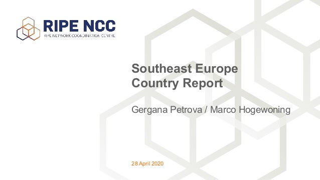 Gergana Petrova / Marco Hogewoning Southeast Europe Country Report 28 April 2020