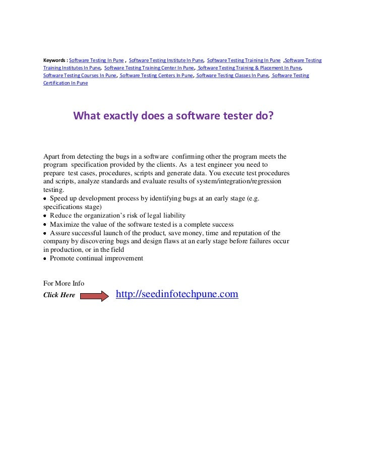 function of software tester    what exactly does a software