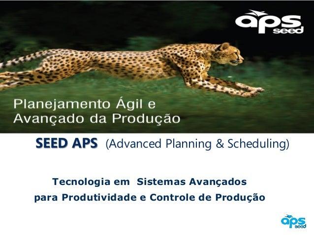 SEED APS (Advanced Planning & Scheduling) Tecnologia em Sistemas Avançados para Produtividade e Controle de Produção