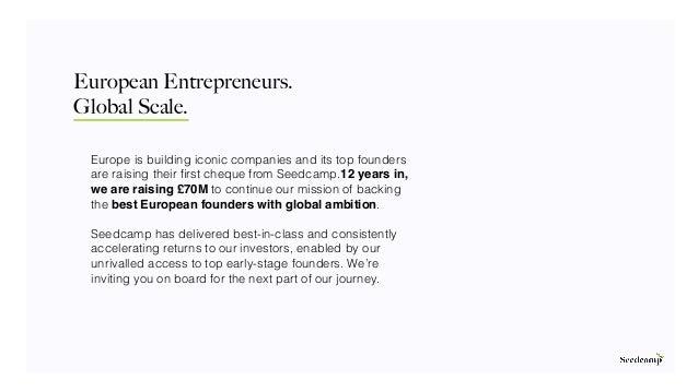 Seedcamp Fund V Fundraising Deck Slide 2