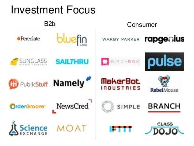 Investment Focus      B2b          Consumer