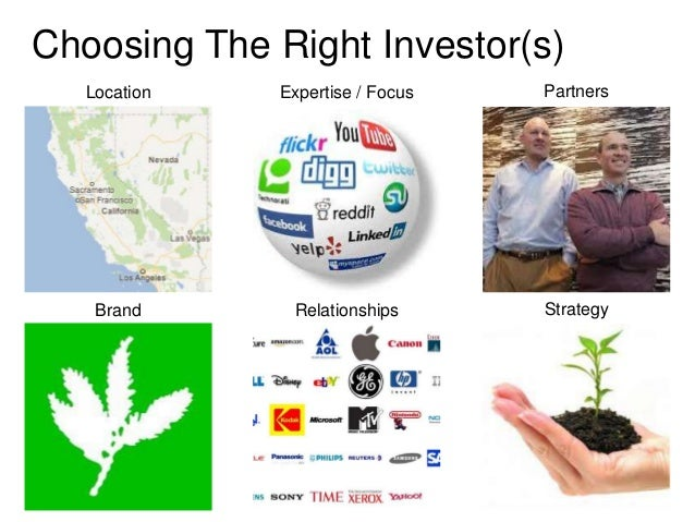 Choosing The Right Investor(s)   Location   Expertise / Focus   Partners    Brand      Relationships      Strategy