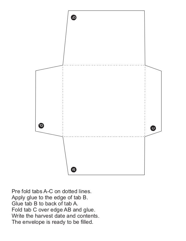 b           d                                       c                        aPre fold tabs A-C on dotted lines.Apply glue...