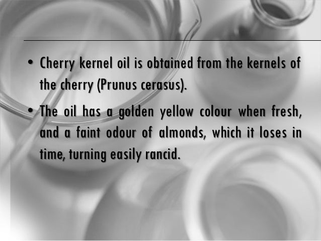 Cherry kernel oil benefits