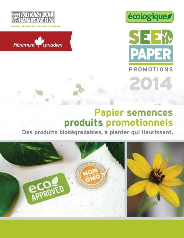 2014 écologique Papier semences produits promotionnels Des produits biodégradables, à planter qui fleurissent.