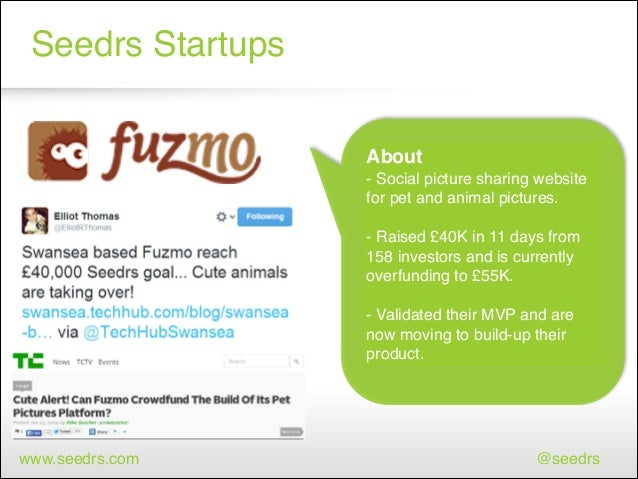 Seedrs Startups About! - Social picture sharing website for pet and animal pictures.! ! - Raised £40K in 11 days from 158 ...