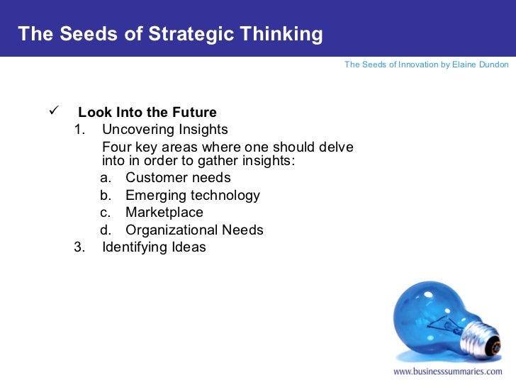 <ul><li>Look Into the Future </li></ul><ul><ul><li>Uncovering Insights </li></ul></ul><ul><ul><li>Four key areas where one...