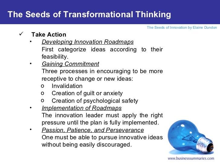 <ul><li>Take Action </li></ul><ul><ul><li>Developing Innovation Roadmaps </li></ul></ul><ul><ul><li>First categorize ideas...