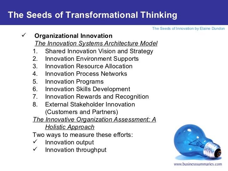 <ul><li>Organizational Innovation </li></ul><ul><li>The Innovation Systems Architecture Model </li></ul><ul><ul><li>Shared...