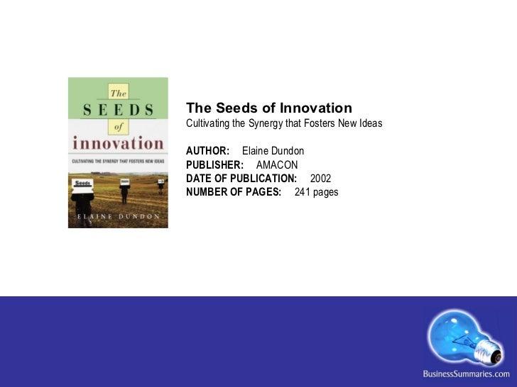Seeds of Innovation Slide 2
