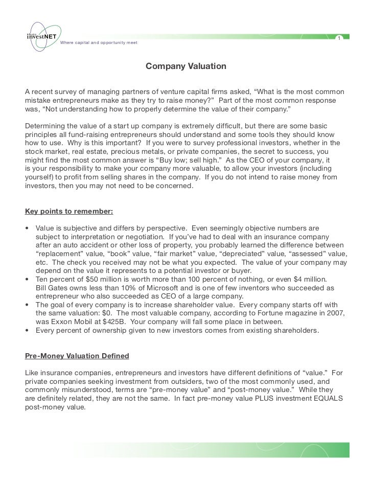 Seed Valuation Primer