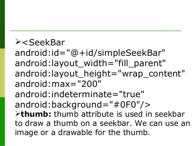 SeekBar in Android