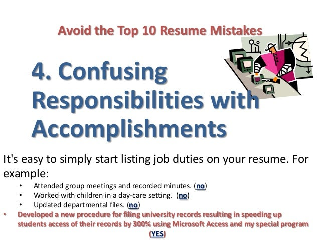 7. Avoid The Top 10 Resume Mistakes ...