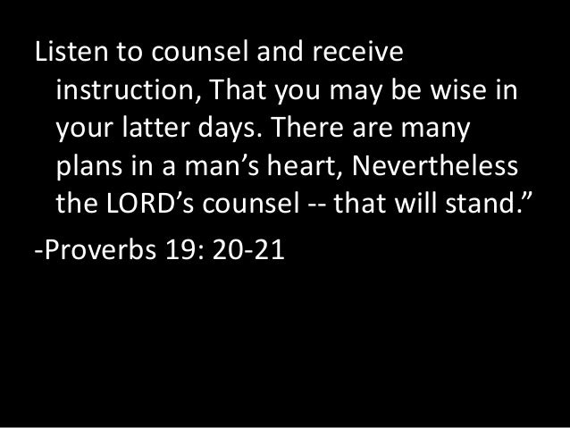 wise counsel proverbs