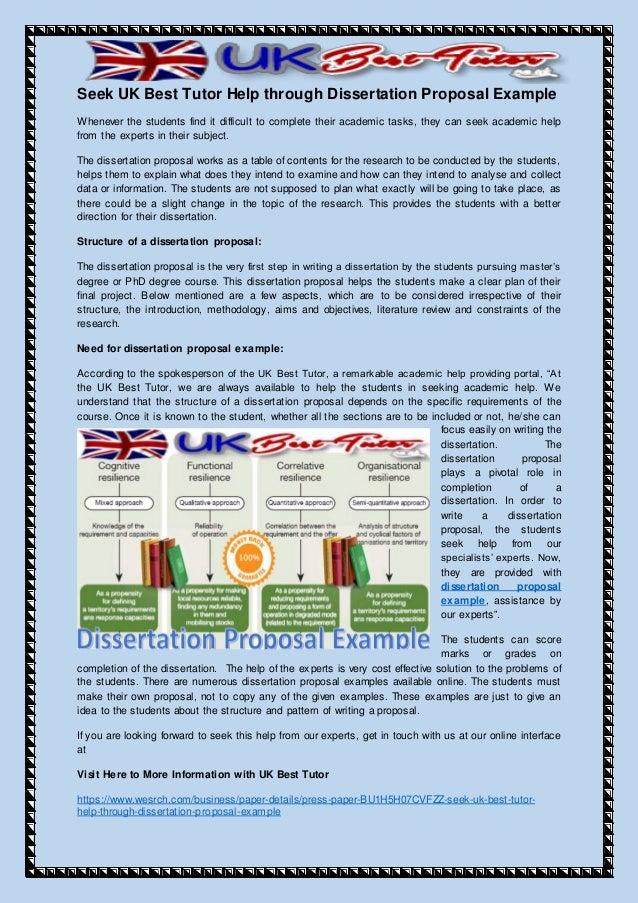 Write dissertation proposal literature review