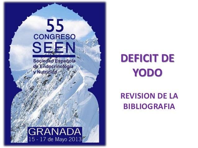 REVISION DE LABIBLIOGRAFIADEFICIT DEYODO
