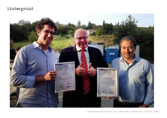 Hintergrund  Jungunternehmertag Konstanz 2013 - Seenovation - Livegründung - 31.10.2013 - Seite 4