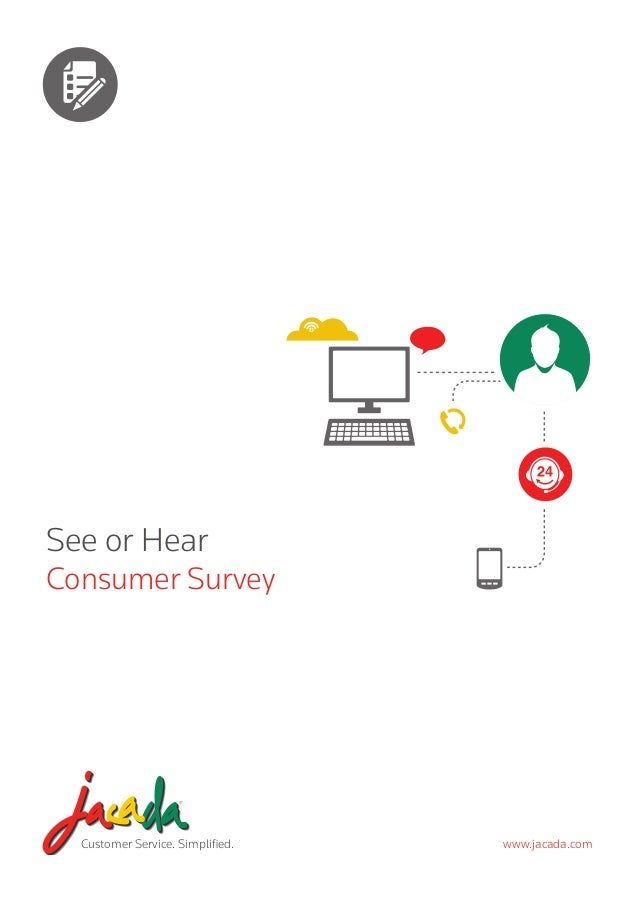 Customer Service. Simplified. www.jacada.com See or Hear Consumer Survey