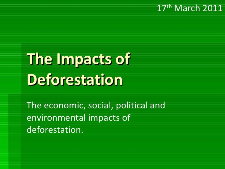 Deforestration cause and effect