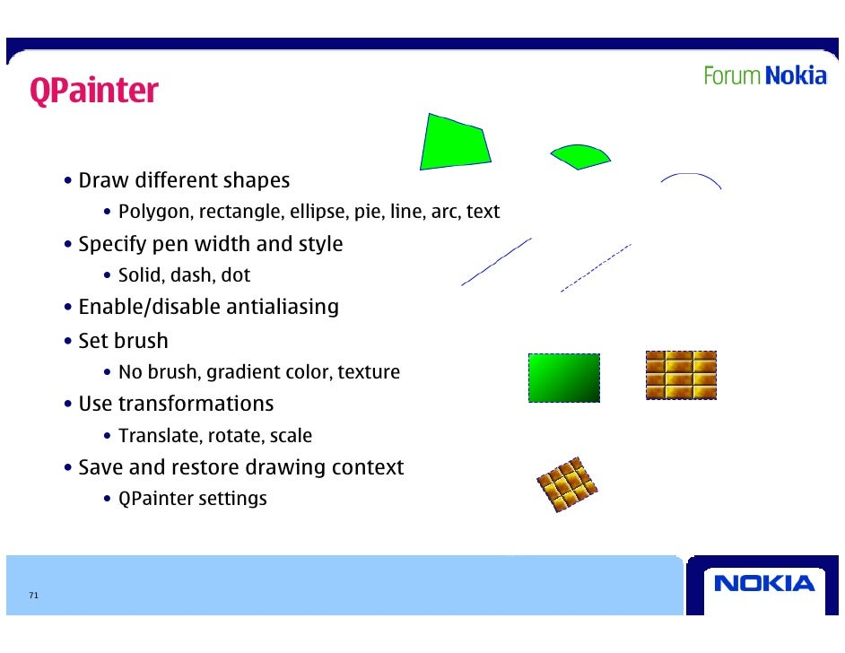 Qt in depth - presentation for Symbian expo 2009