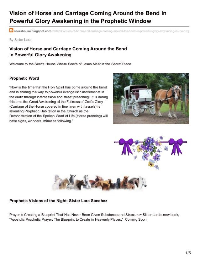 Seershouse blogspot com-Vision of Horse and Carriage Coming Around th…