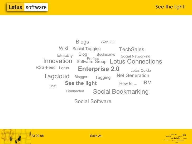 Profiles Net Generation Chat Wiki Connected Enterprise 2.0 Social Software lotusday Blogger Lotus Bookmarks Blog Software ...