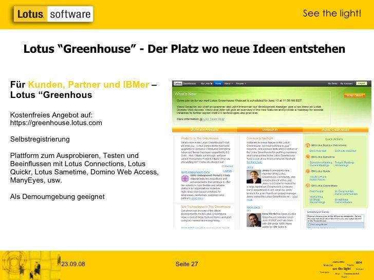 """Lotus """"Greenhouse"""" - Der Platz wo neue Ideen entstehen Für  Kunden, Partner und IBMer   – Lotus """"Greenhous Kostenfreies An..."""