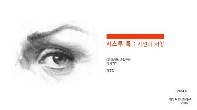 시스루 룩 : 시선과 저항 디지털정보융합전공 박사과정 ! 정영찬 영상커뮤니케이션 2014-1 2014.6.13