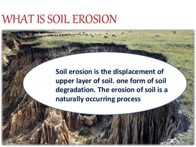 Soil erosion for Soil full form