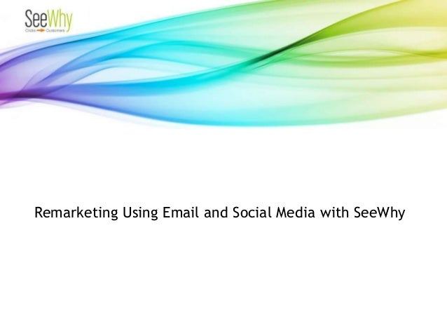 Remarketing Using Email and Social Media with SeeWhy