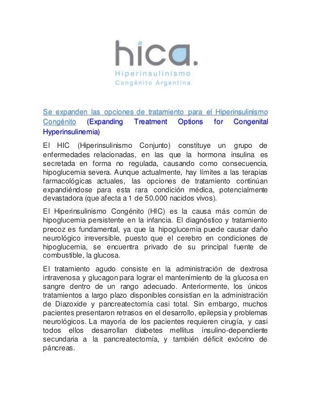 Se expanden las opciones de tratamiento para el Hiperinsulinismo Congénito (Expanding Treatment Options for Congenital Hyp...
