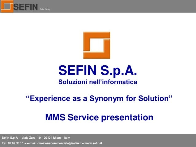 Sefin and mms presentation 2013 - Synonym am besten ...