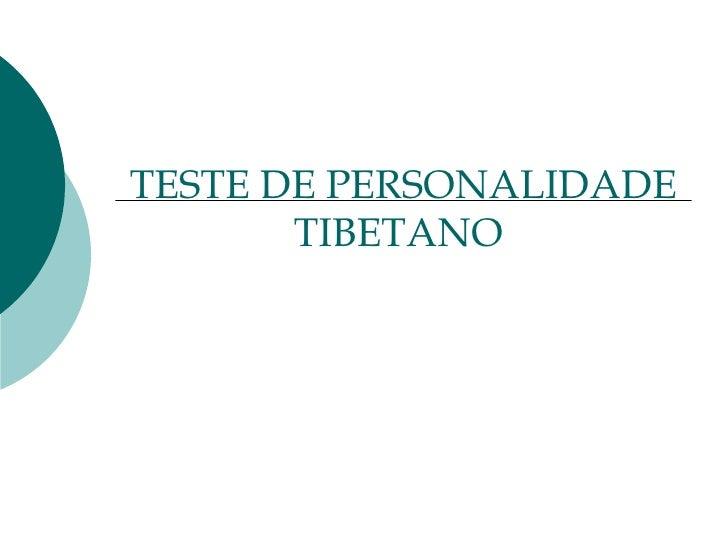 TESTE DE PERSONALIDADE TIBETANO