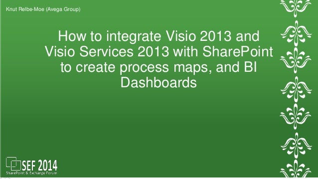 How to integrate Visio 2013 and  Visio Services 2013 with SharePoint  to create process maps, and BI  Dashboards  Knut Rel...