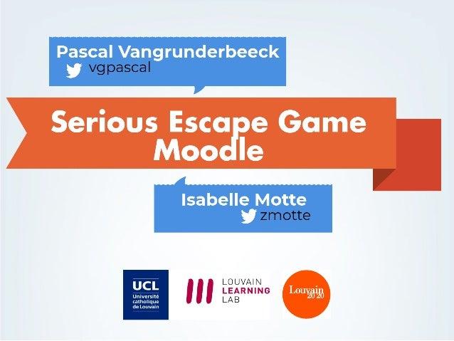 Serious Escape Game Moodle