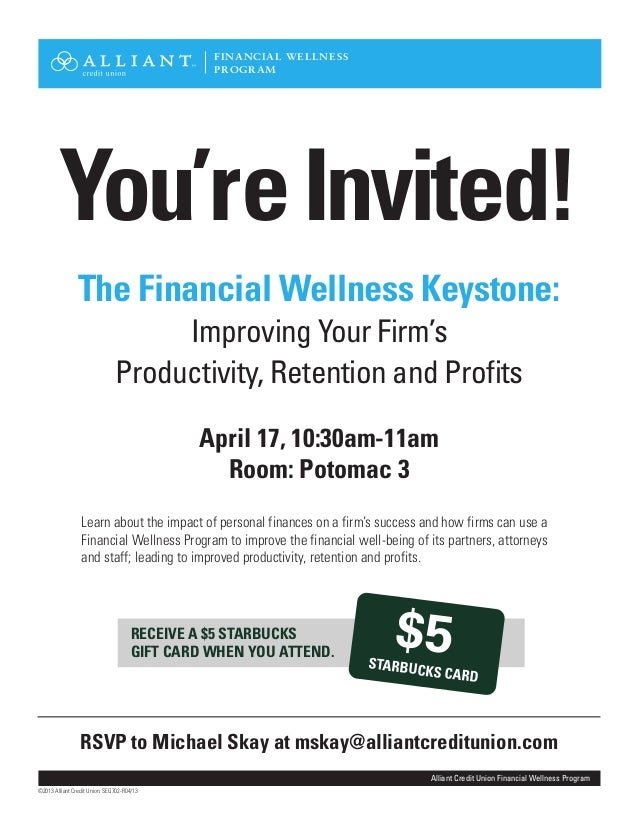 You'reInvited!April 17, 10:30am-11amRoom: Potomac 3RECEIVE A $5 STARBUCKSGIFT CARD WHEN YOU ATTEND.Learn about the impact ...