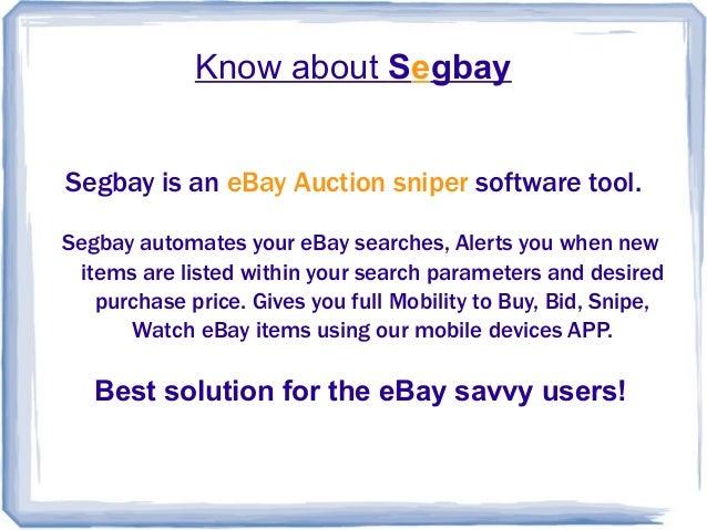 Segbay Ebay New Listing Alert Software