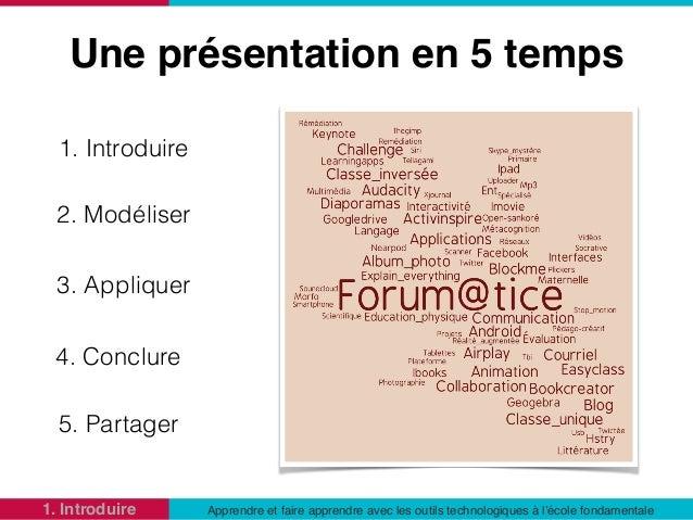 Apprendre et faire apprendre avec les outils technologiques à l'école fondamentale Slide 2