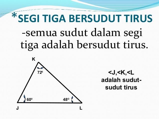 Matematik Tingkatan 1 Mengklasifikasikan Segitiga