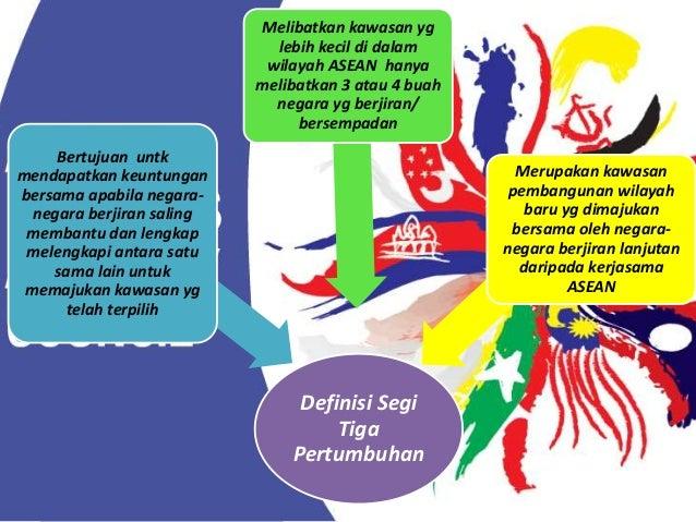 Paling awal dibentuk Dikenali sbg SIJORI (Singapura-Johor- Riau) Paling berpotensi untk berjaya kerana mempunyai modal, te...
