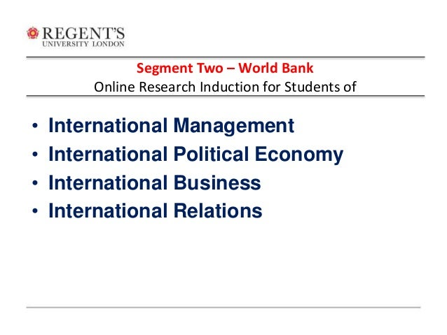 Research papers on world trade organization