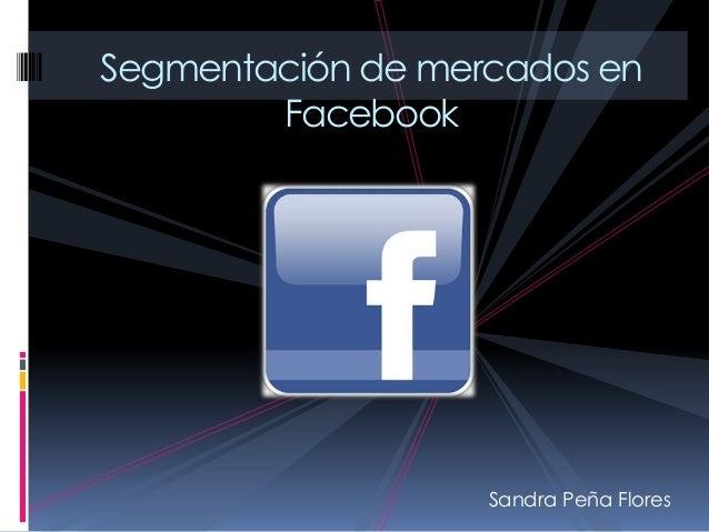 Sandra Peña Flores Segmentación de mercados en Facebook